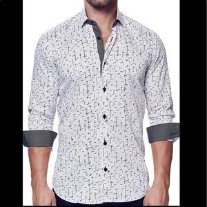 MACEOO Italian Digital Fabrics Men's Button Up XL